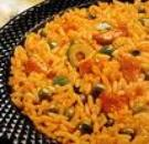 Arroz con Gandules (Yellow Rice with Green Pigeon Peas)
